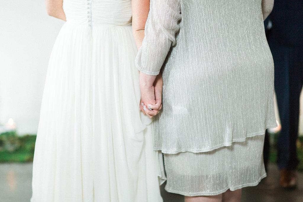 mother daughter moment alabama wedding