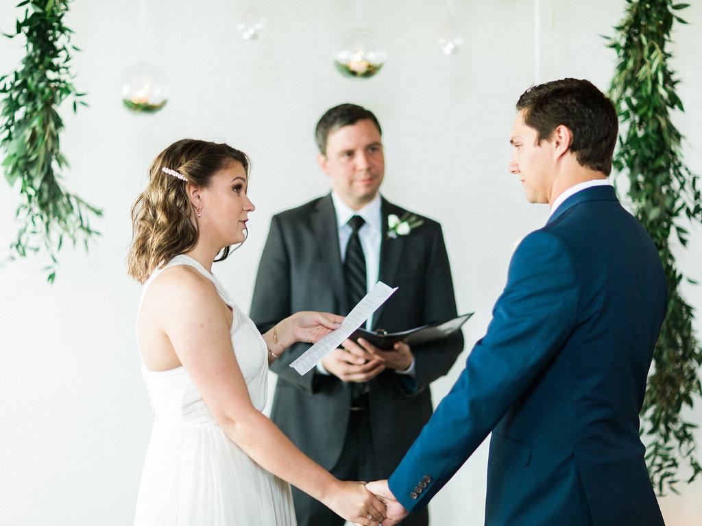 bride and groom alabama wedding ceremony