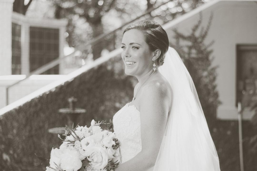 black and white bride alabama wedding