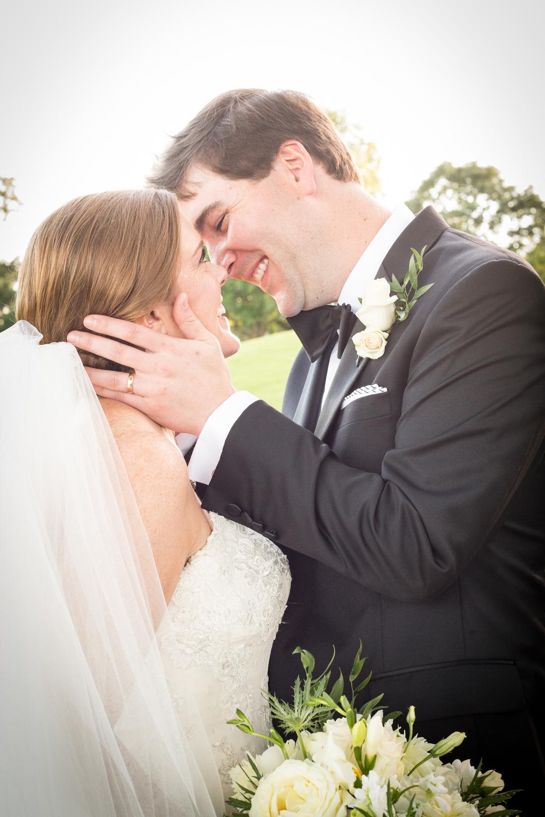 bride and groom pure joy alabama wedding
