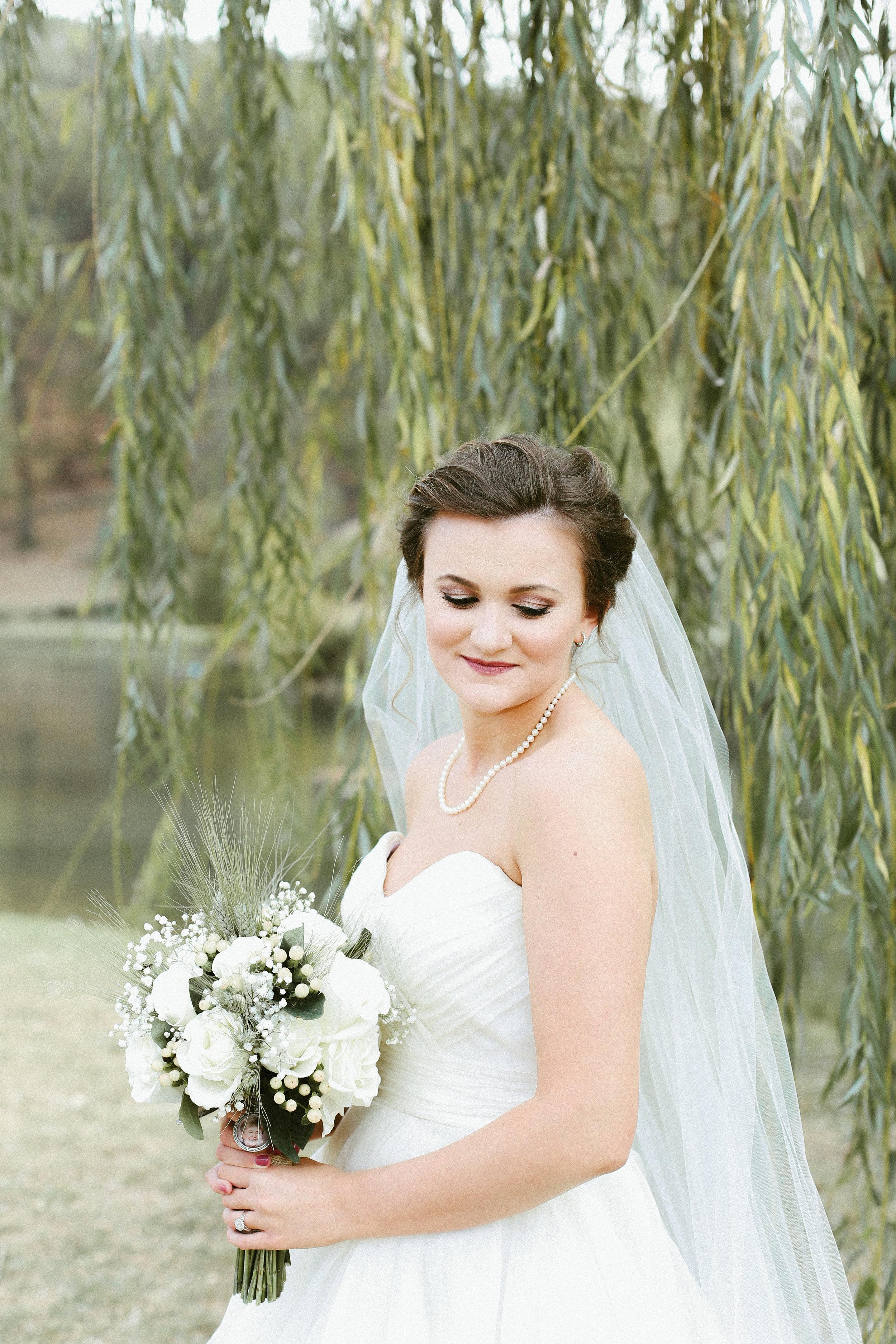 bridal portrait alabama wedding