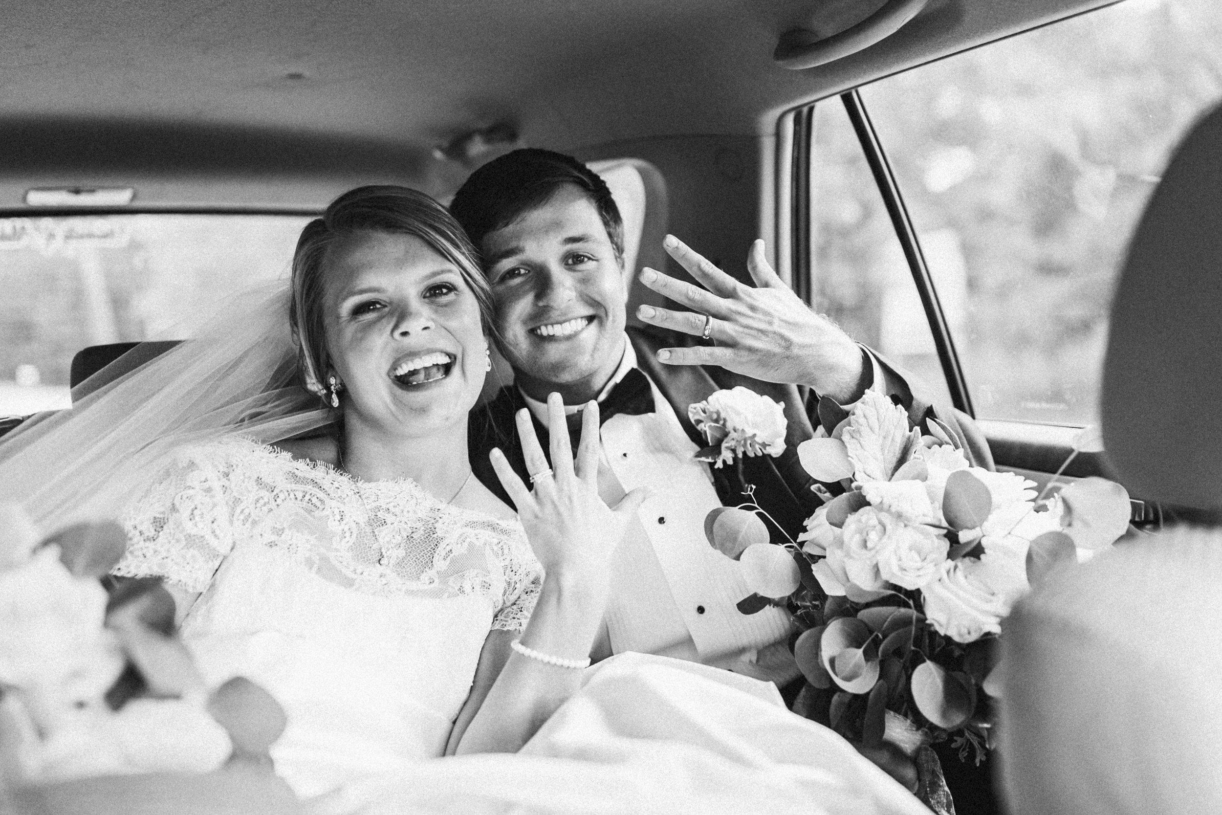 just married alabama wedding