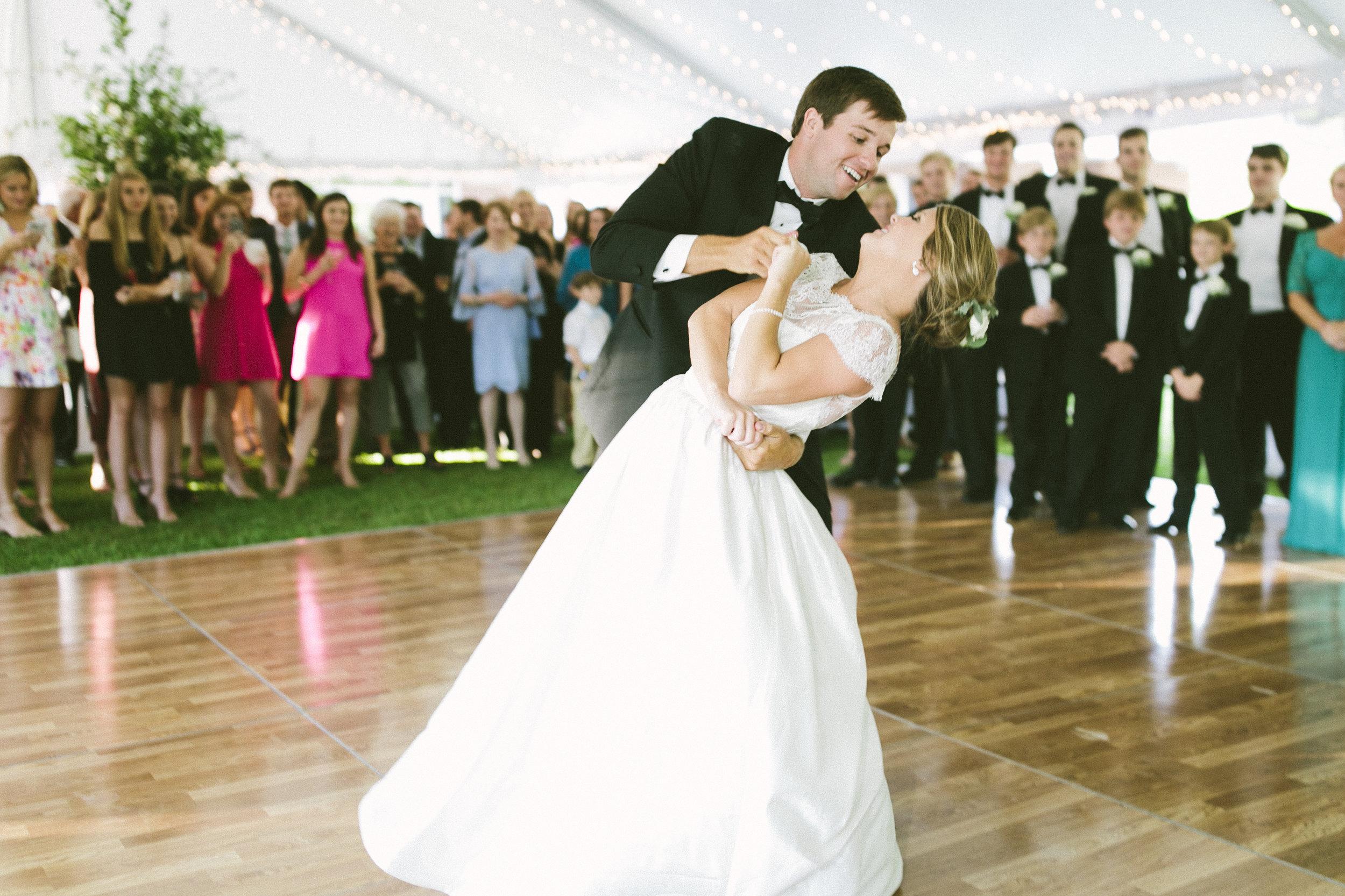 bride and groom first dance alabama wedding