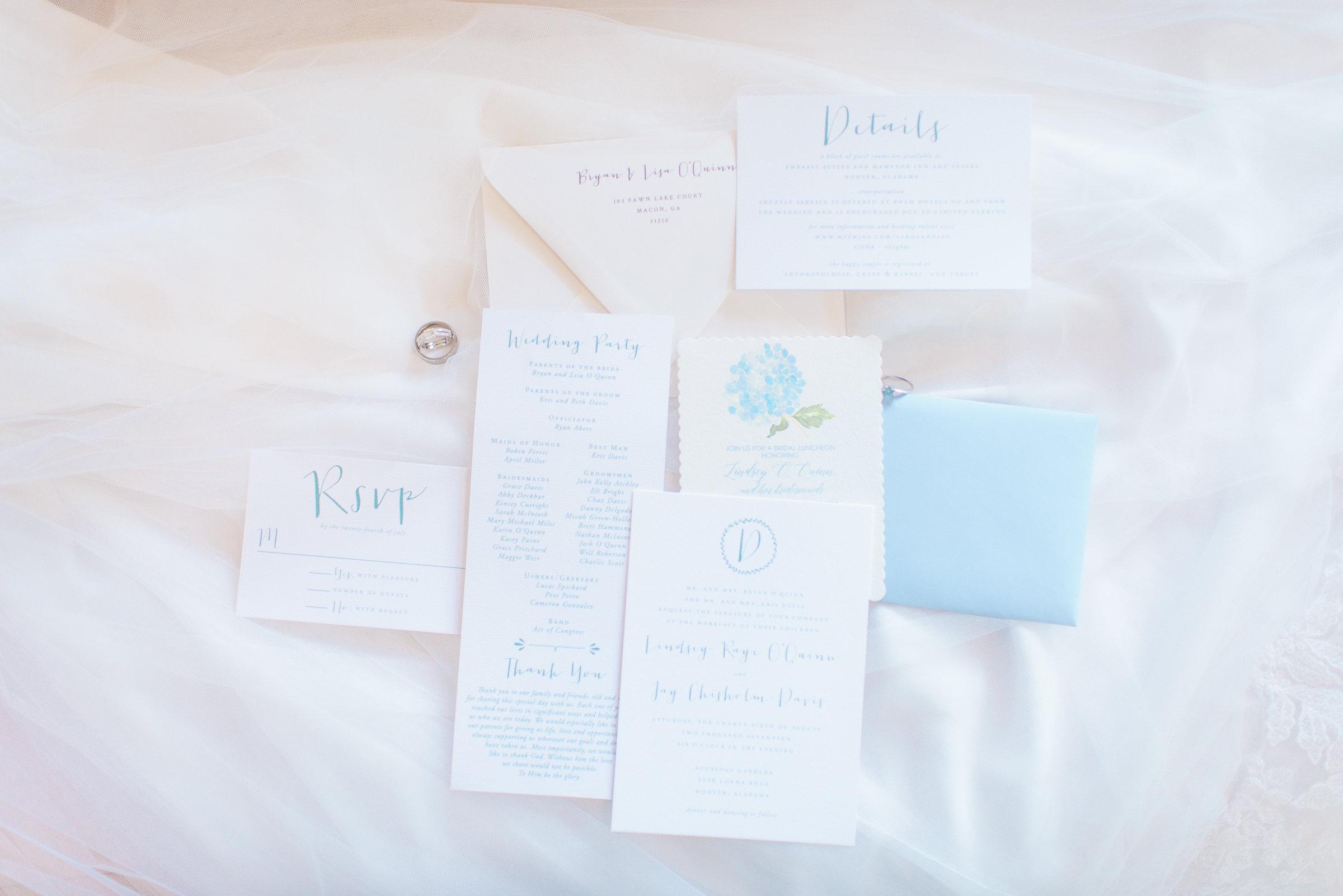 wedding invitations alabama wedding