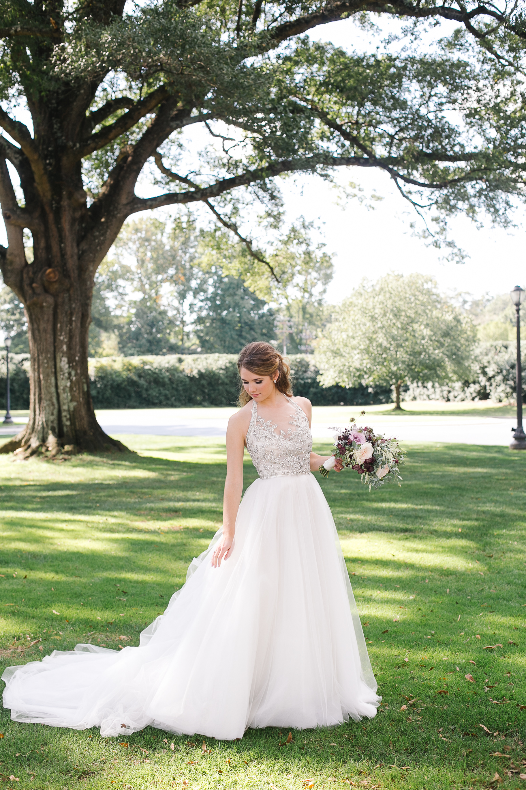 white anne barge wedding dress bustle gowns