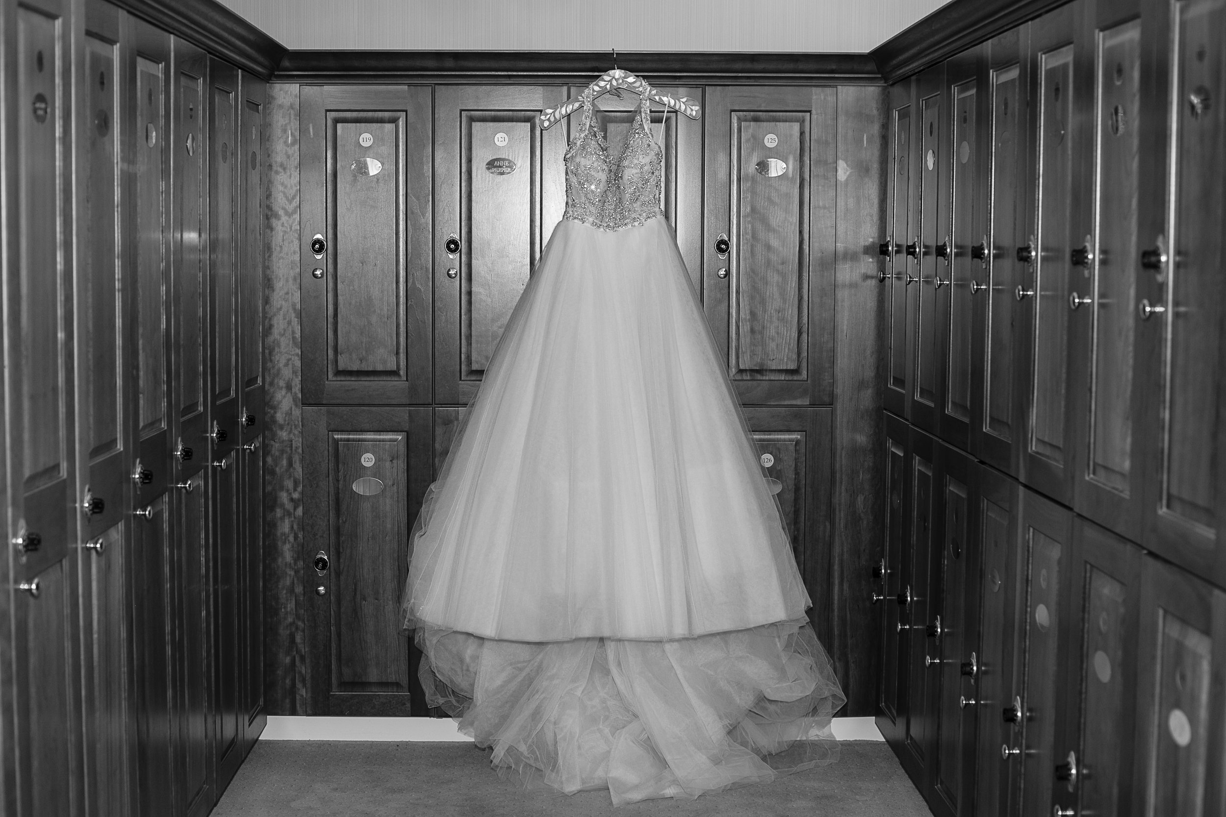 white anne barge wedding dress