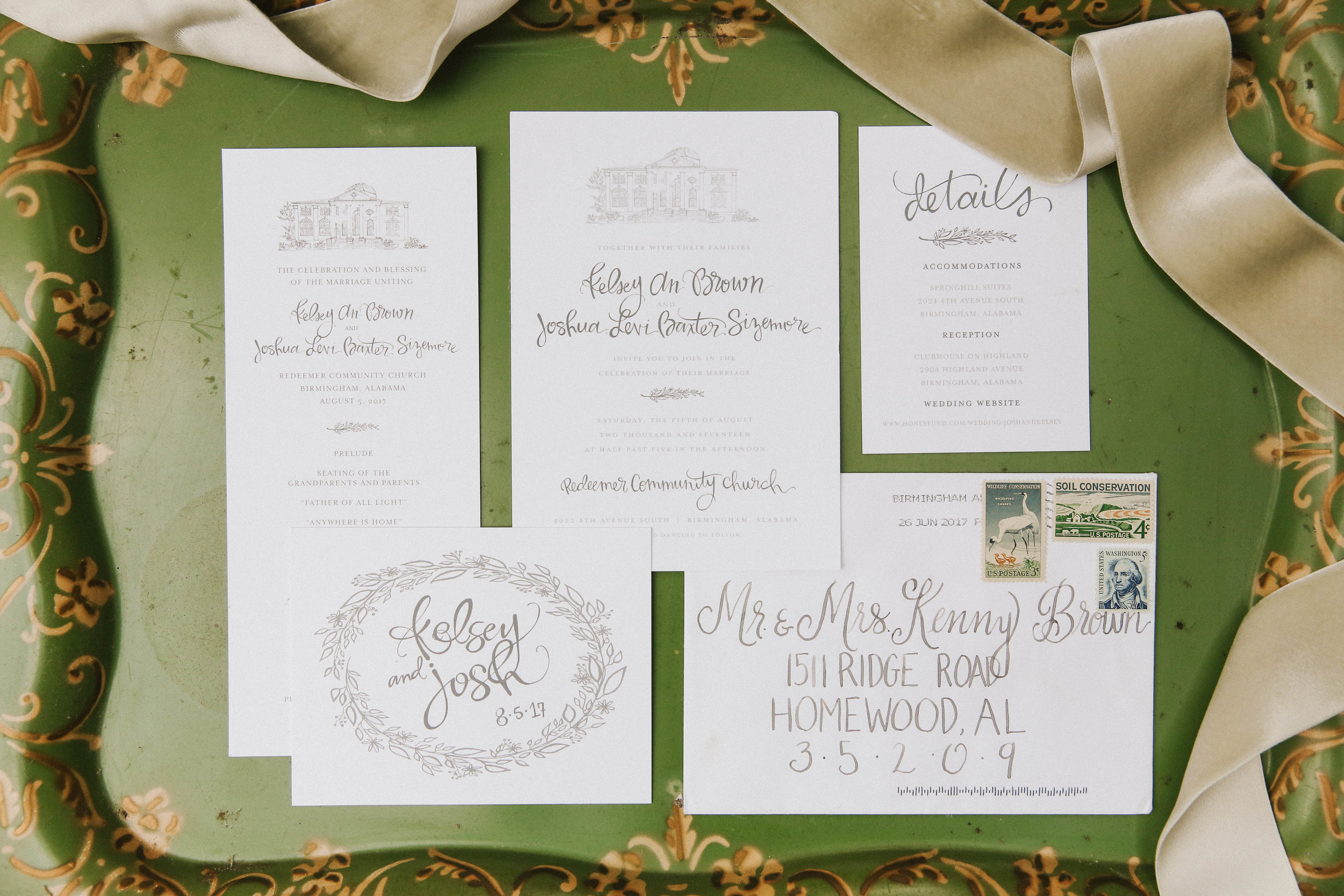 kelsey and josh wedding invitations