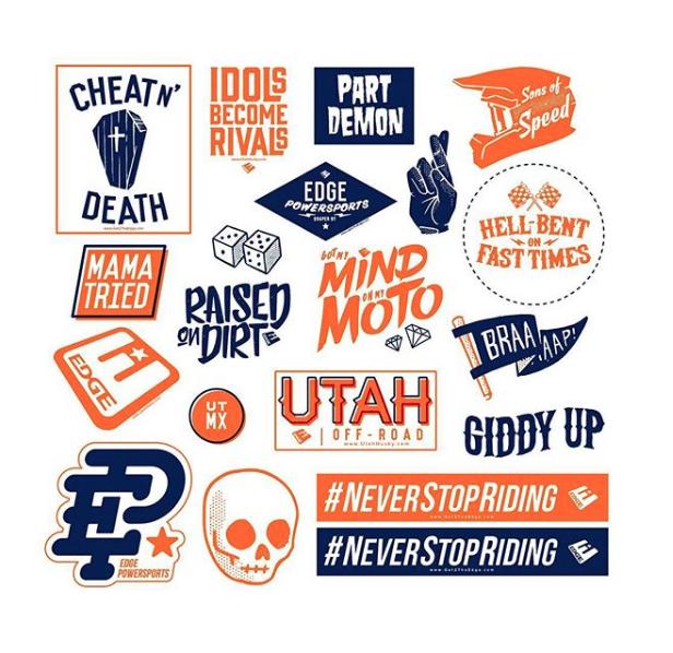 The Edge Motorsports sticker set.