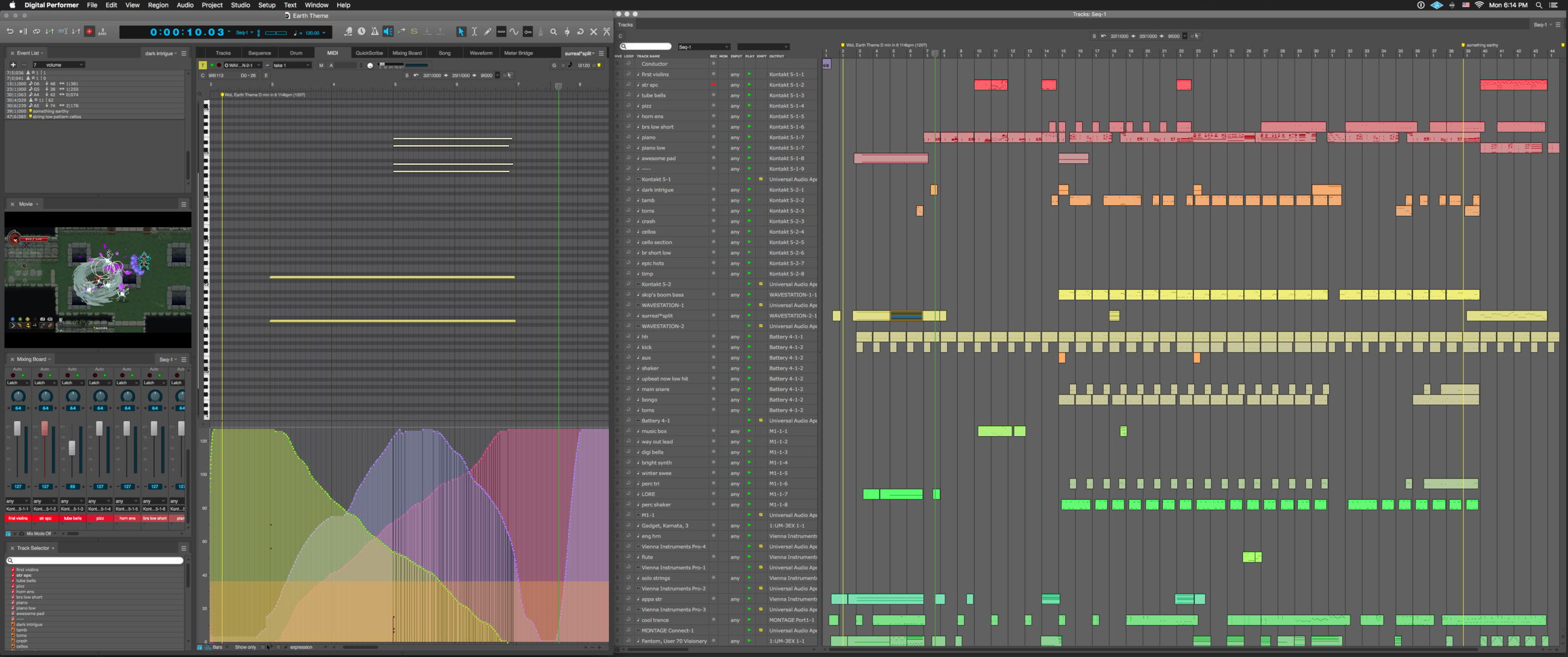 Here's a peek at an early version of the earth theme session.