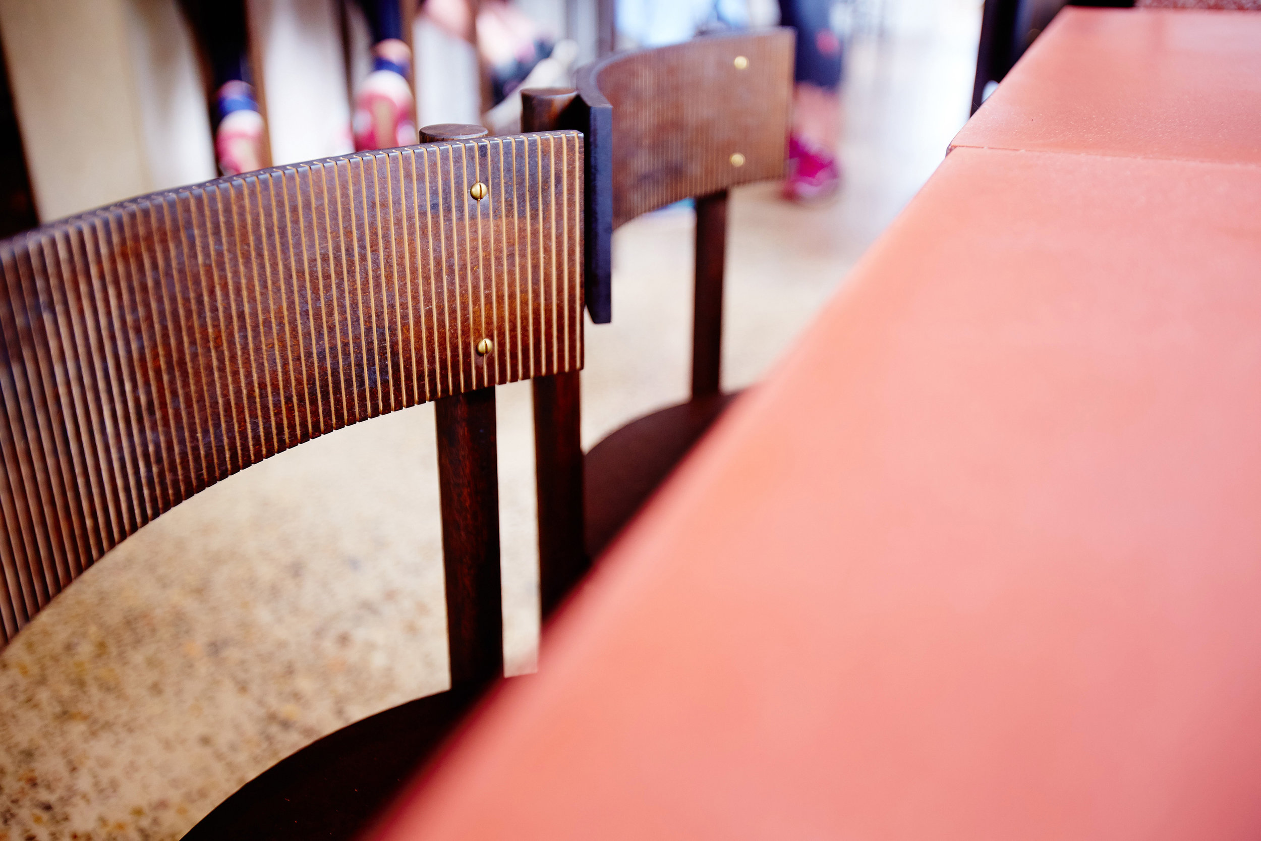 Chairs designed by  Smith + Carmody  and constructed by  Jonathan West  Cornersmith Annandale