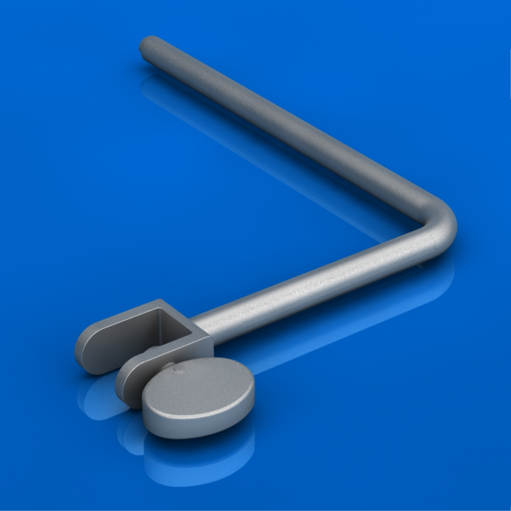 22187-1500 Reducer/Distractor    Loads onto the concave midsection of the Supine Positioner. Enables indirect distal humerus or proximal ulna fracture reduction. Simply orient it as desired and reduce the fracture by adjusting the height of the Supine Positioner.