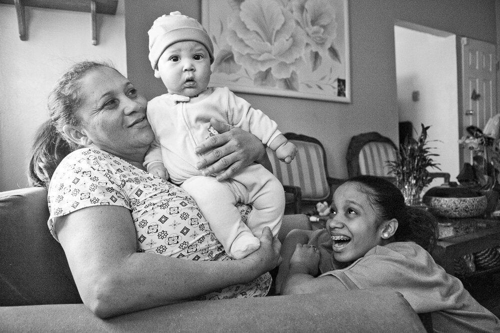 miguel with aida and grandma, 2013 love you so much miguel ♡