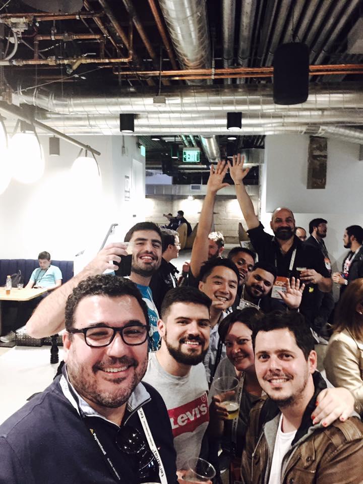 Alguns dos Brasileiros no encontro da América Latina nos escritórios da Unity em San Francisco