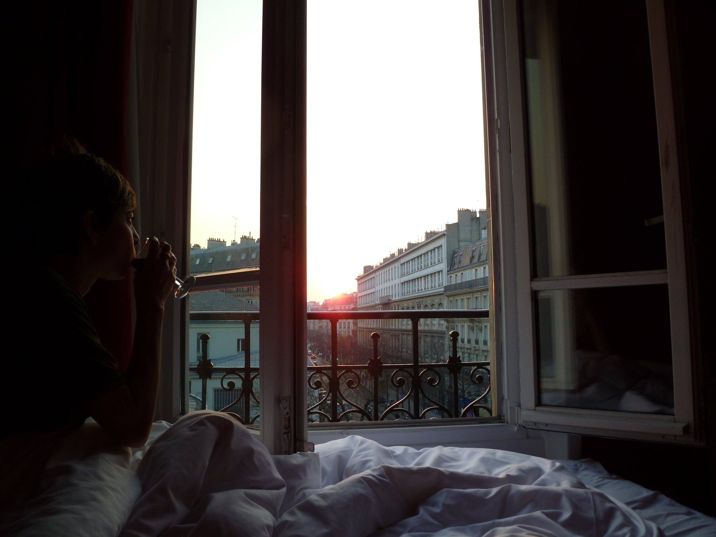 This is a picture I took of Annie Costello Brown at the Paris France Hotel in the Marais.