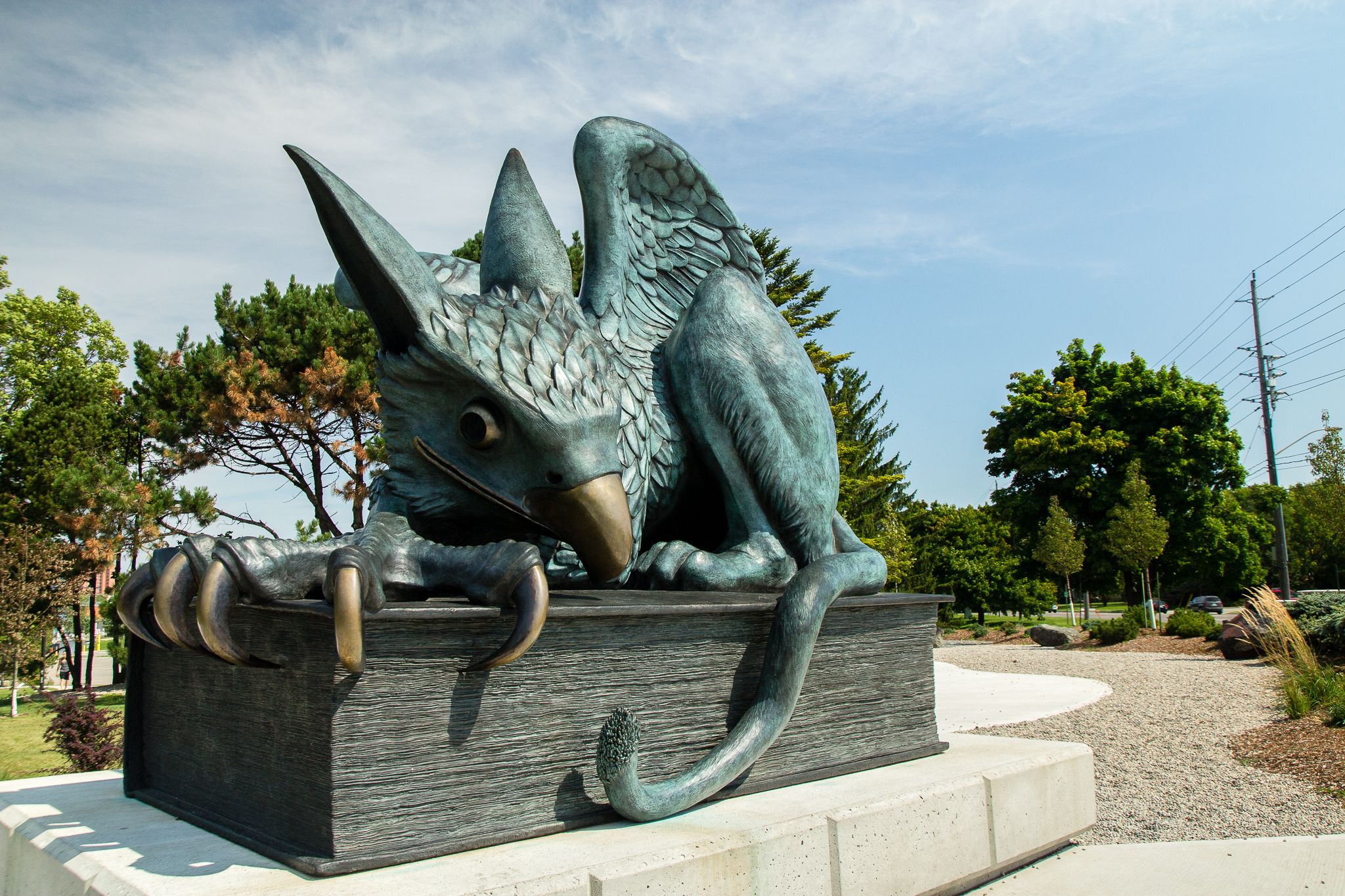 University of Guelph Gryphon statue