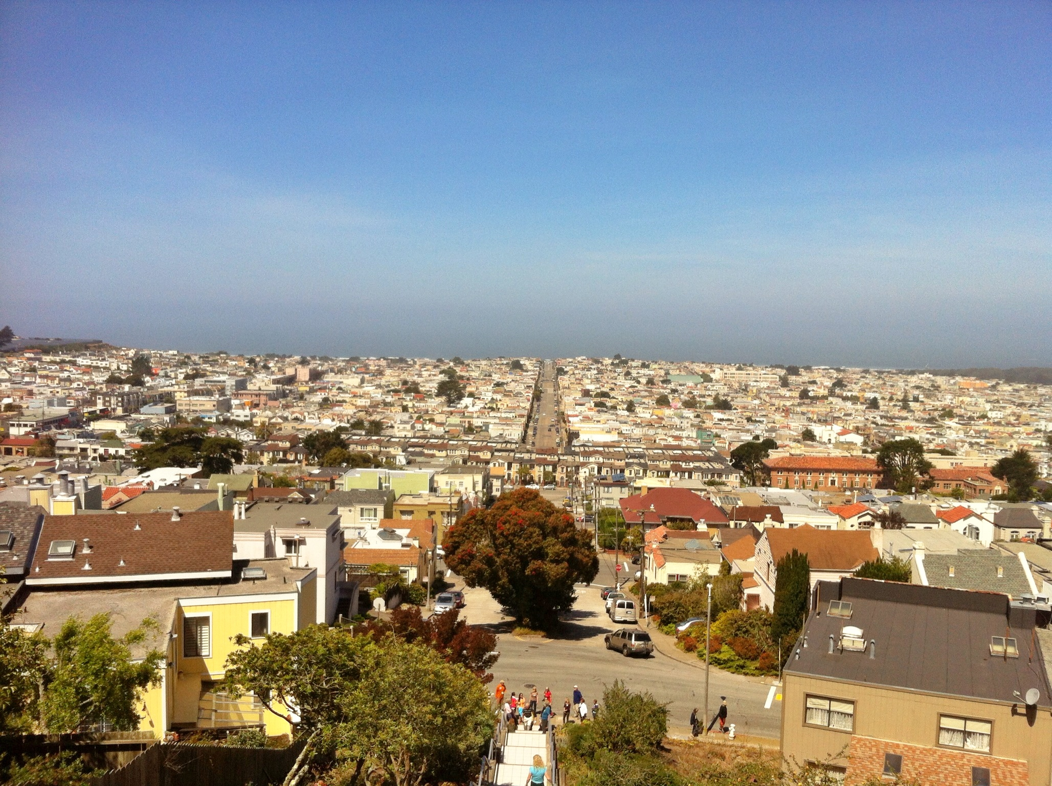 View from the top of the steps