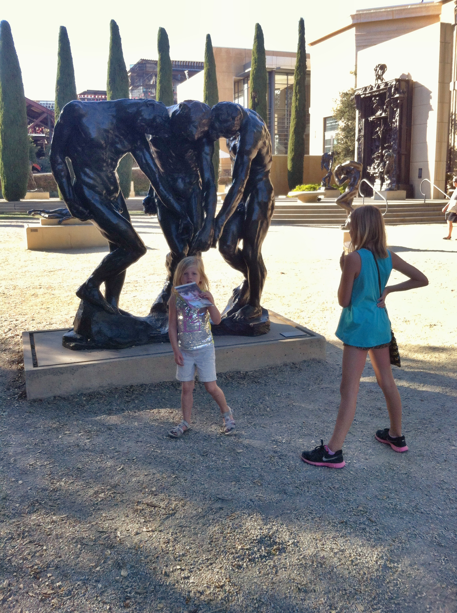 Wandering around the statues