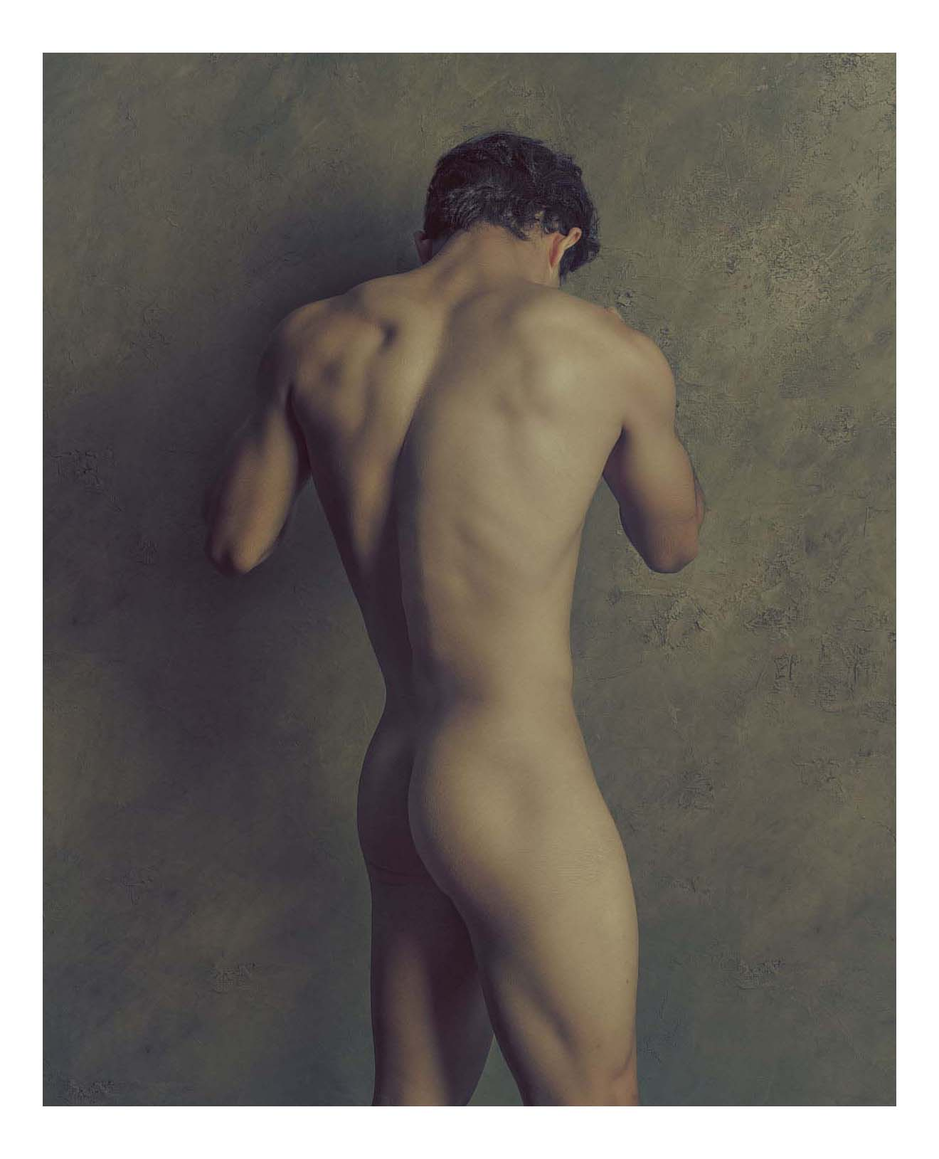 male nude back view standing sculpture by troy schooneman.jpg