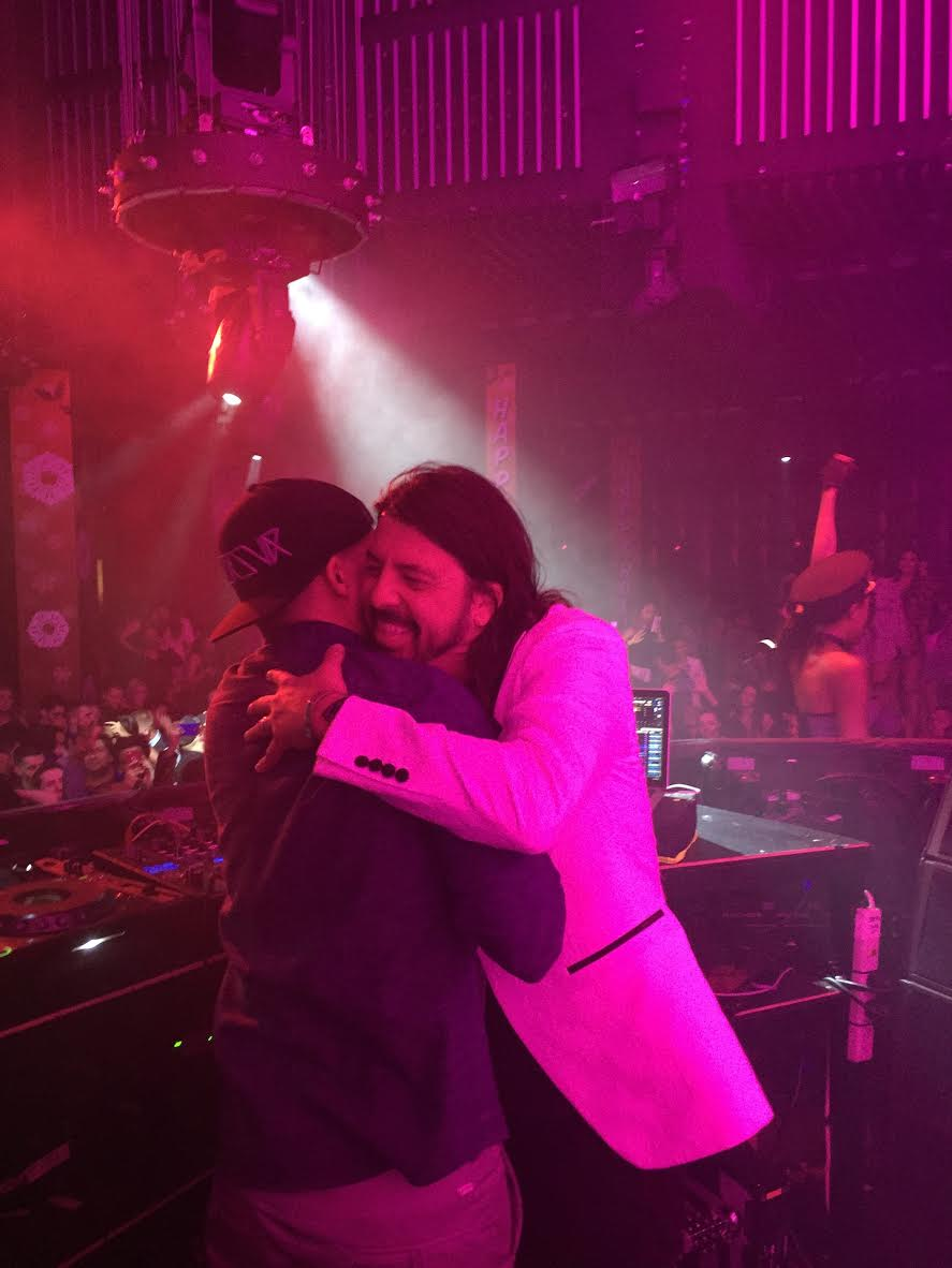 The 'Everlong' Singer, Dave Grohl, Enjoyed a Night on The Town With His Favorites. Courtesy Photo