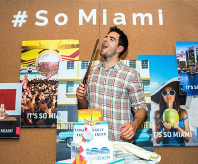 """""""Eli Roth, along with the Greater Miami CVB and DeLeon Tequila, celebrated Miami Beach's 100th birthday at the """"It's So Miami"""" dinner series during the Sundance Film Festival."""" Courtesy Photo"""