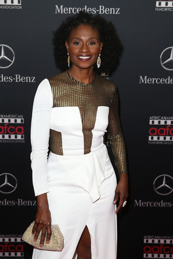 Adina Porter arrives at the Mercedes-Benz and African American Film Critics Association Oscar viewing party at Four Seasons Hotel Beverly Hills on February 28, 2016 in Los Angeles, California. Photo Credit: Joe Scarnici/Getty Images for MBUSA.