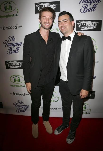 Patrick Schwarzennager joins The h.wood Group's John Terzian at the 3rd ANNUAL IMAGINE BALL, presented by Insurgent Media & The h.wood Group with celebratory sips by Allaire Vodka & Aged Crystal Tequila at Bootsy Bellows last Thursday, May 5th, 2016, in West Hollywood, CA. Photo Credit: Faye Sadou