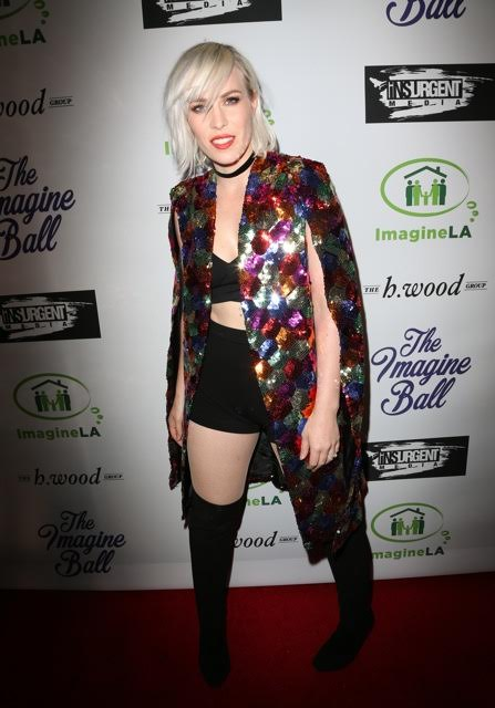 Natasha Bedingfield gave a show stopping headlining performance with her acoustic player at the 3rd ANNUAL IMAGINE BALL, presented by Insurgent Media & The h.wood Group with celebratory sips by Allaire Vodka & Aged Crystal Tequila at Bootsy Bellows last Thursday, May 5th, 2016, in West Hollywood, CA.   Photo Credit: Faye Sadou