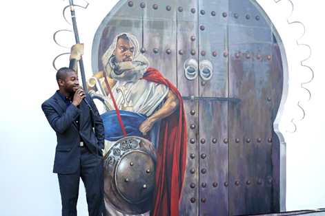 Top 3 Winner of the Bombay Sapphire Artisan Series Mural Unveiling in Los Angeles, Artist Shawn Warren. Courtesy Photo