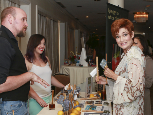Caroline Hennessy was all smiles at   Debbie Durkin's EcoLuxe Luxury Lounge   supporting   Shriner's Hospital for Children - Los Angeles   at The Beverly Hilton in Beverly Hills, CA on Saturday, September 17th.
