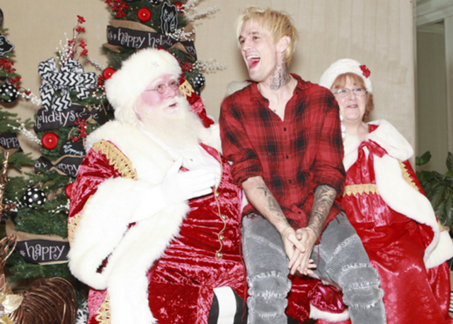 "Aaron Carter celebrated ""Christmas in September"" at   Debbie Durkin's EcoLuxe Luxury Lounge   supporting   Shriner's Hospital for Children - Los Angeles   at The Beverly Hilton in Beverly Hills, CA on Saturday, September 17th."