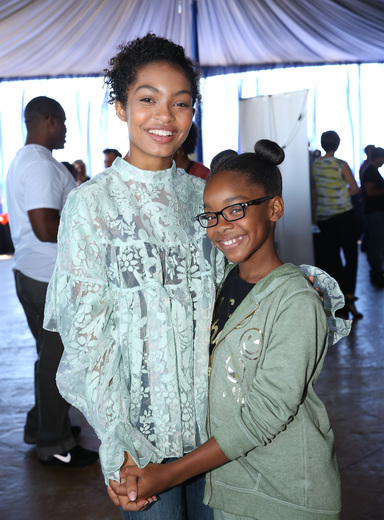 Actors Yara Shahidi and Marsai Martin attend PILOT PEN & GBK's Pre-Emmy Luxury Lounge - Day 1 at L'Ermitage Beverly Hills Hotel on September 16, 2016 in Beverly Hills, California. (Photo by Maury Phillips/Getty Images for GBK Productions)