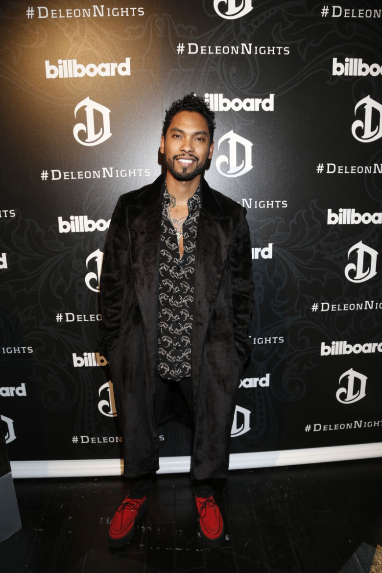 Miguel looked dapper in a black ensemble while   DeLeón Tequila  and  Billboard   celebrat  ed the release of the   DeLeón 100  with a private performance by the Grammy-winning recording artist last night at The Sayers Club in LA. Photo Credit - A Turner Archives.