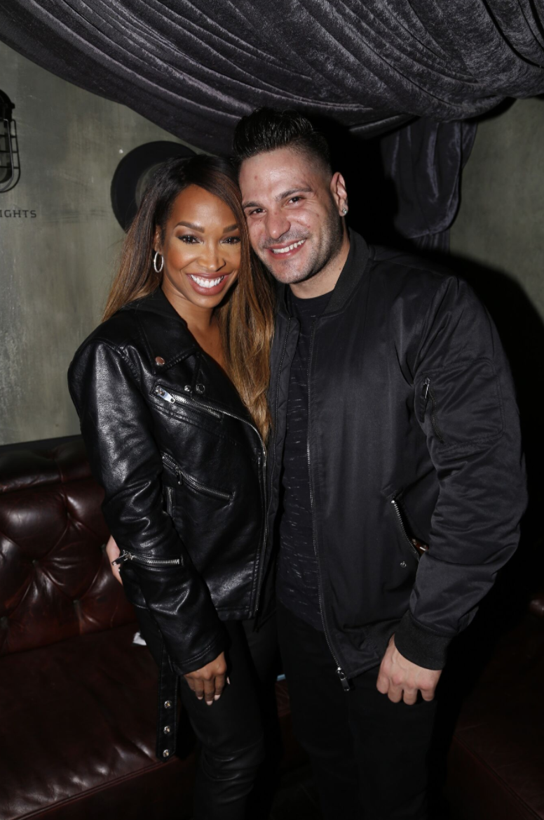 New couple Malika Haqq and Ronnie Ortiz-Magro were all smiles as   DeLeón Tequila  and  Billboard    celebrated the release of the   DeLeón 100  with a private performance by Miguel at The Sayers Club last night in LA. Photo Credit: MarkLAShark