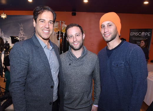 Dr. Alex Paziotopoulos, Josh Berger and Jesse Berger attend EcoLuxe Lounge Ten Years at Sundance on January 22, 2017 in Park City, Utah. (Photo by Vivien Killilea/Getty Images for EcoLuxe)