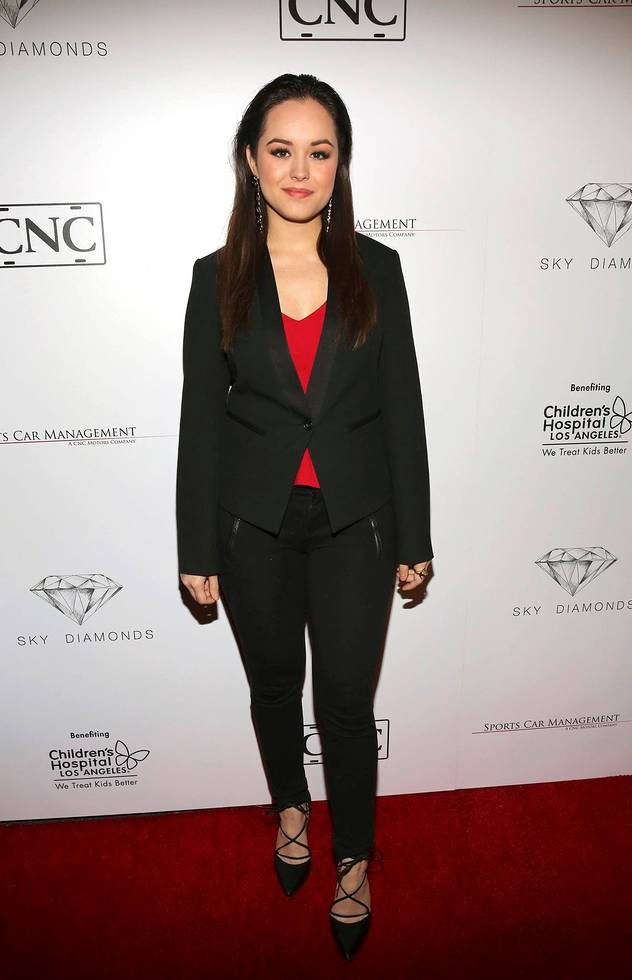 Hayley Orrantia from 'The Goldbergs' Attends The  L.A. All Star Party 2017 Presented by Sky Diamonds, Sports Car Management and CNC Motors To Benefit Children's Hospital Los Angeles. Photo Credit:  Blair Raughley/Invision by the Associated Press.