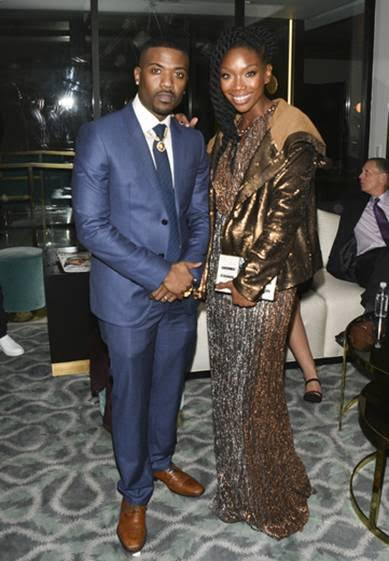 Ray J and Brandy posed for a photo at the Primary Wave 11th Annual Pre-Grammy Party in Partnership with Smirnoff vodka at The London West Hollywood on February 11, 2017. Photo Credit: