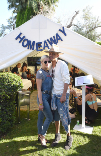 Ashlee Simpson Ross and Evan Ross showed each other love at  The Lucky Lounge Presents: Desert Jam  produced by  BMF Media  sponsored by  Homeaway  and  YouCam Makeup  at the Ingleside Inn in Palm Springs, CA on Saturday, April 15th. Photo Credit: Vivien Killilea/Getty Images for BMF Media