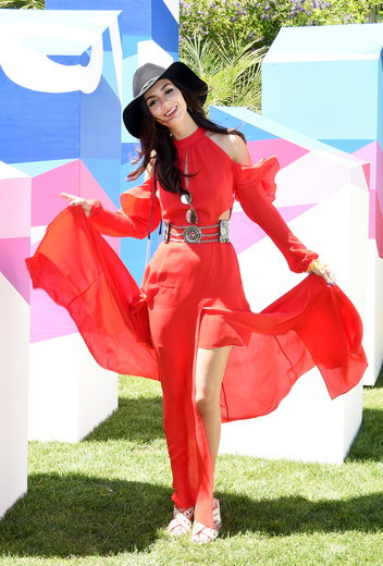 Actor Victoria Justice attends the POPSUGAR Cabana Club Pool Party at Colony Palms Hotel on April 15, 2017 in Palm Springs, California. Photo Credit: Michael Kovac/Getty Images for POPSUGAR