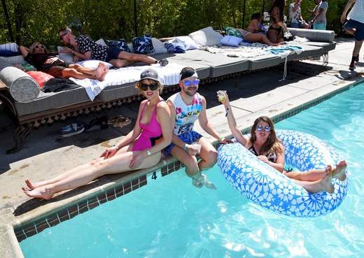 A view of the atmosphere during the POPSUGAR Cabana Club Pool Party at Colony Palms Hotel on April 15, 2017 in Palm Springs, California. Photo Credit: Michael Kovac/Getty Images for POPSUGAR