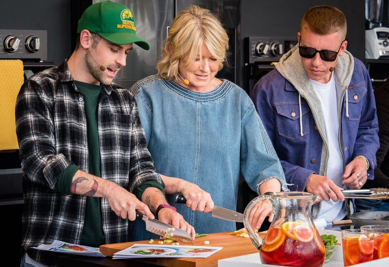 Martha Stewart Taught Macklemore & Ryan Lewis a Thing or Two in the Kitchen. Photo Credit: Courtesy BottleRock Napa Valley