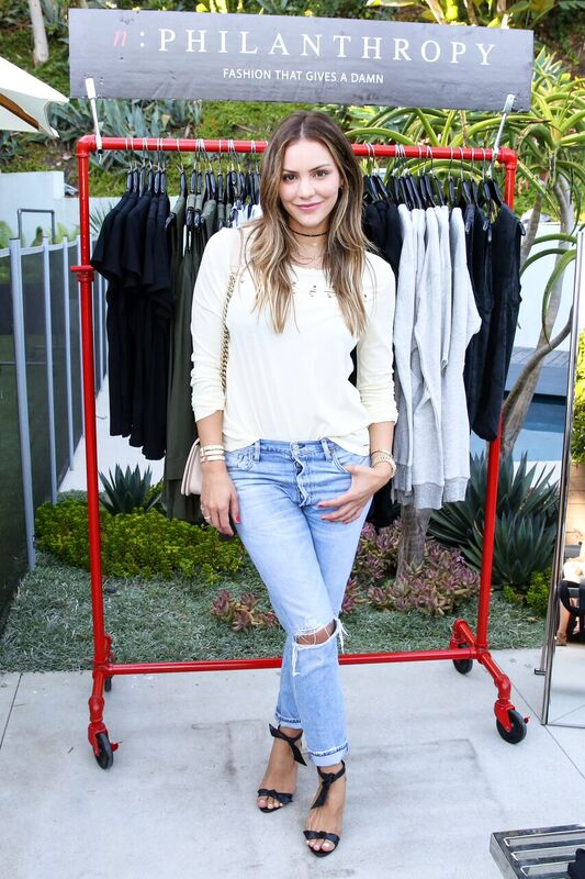 Kat McPhee Looked Stylish in a n:Philanthropy top with a FASHIONABLE bag, Citizens of Humanity jeans, and Alex Birman shoes. Photo Credit: Marc Patrick/BFA