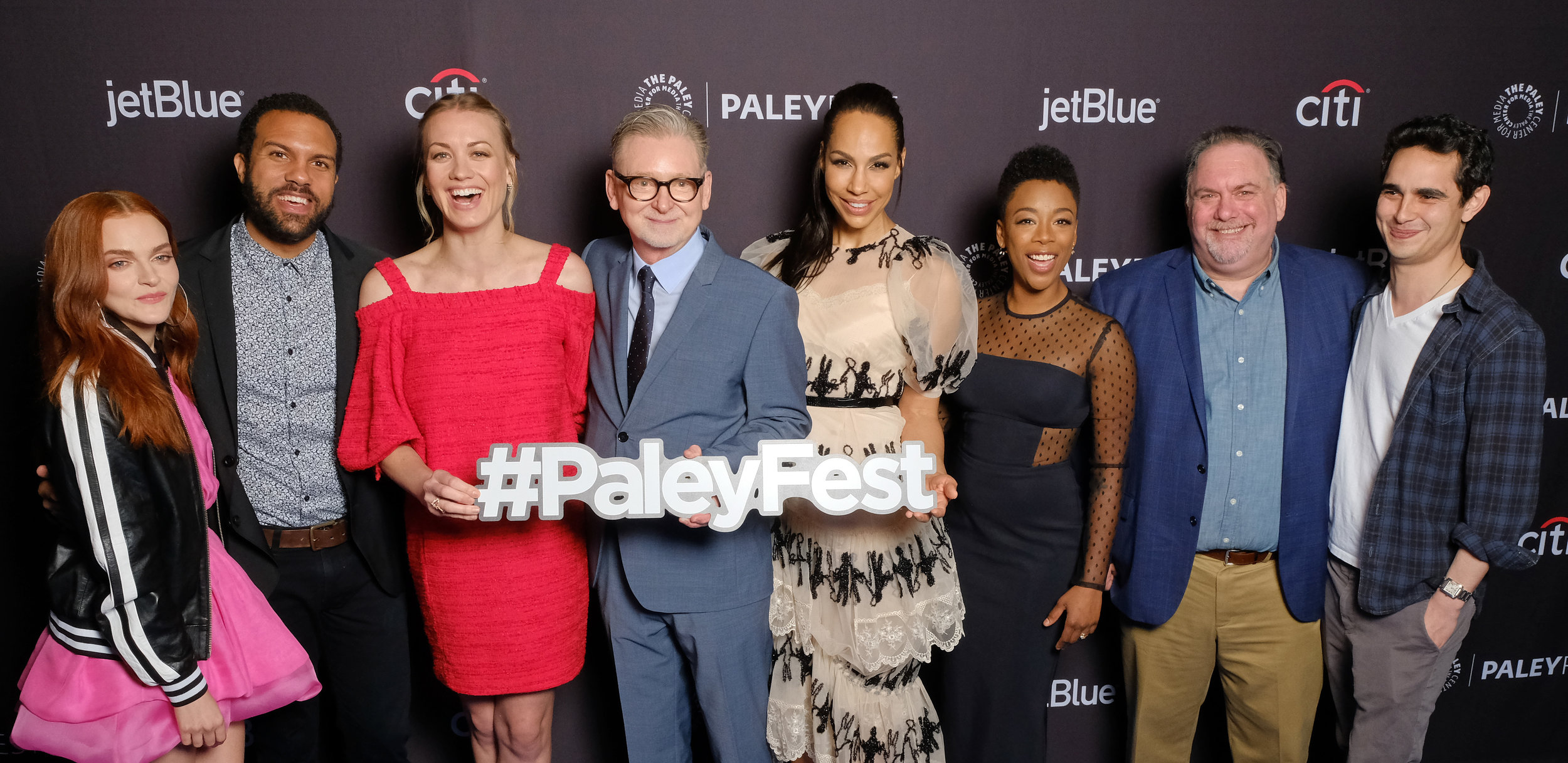 Cast and creatives of The Handmaid's Tale arrive at PaleyFest LA 2018 honoring The Handmaid's Tale, presented by The Paley Center for Media, at the DOLBY THEATRE on March 18, 2018 in Hollywood, California. Photo Credit:Michael Bulbenko for the Paley Center