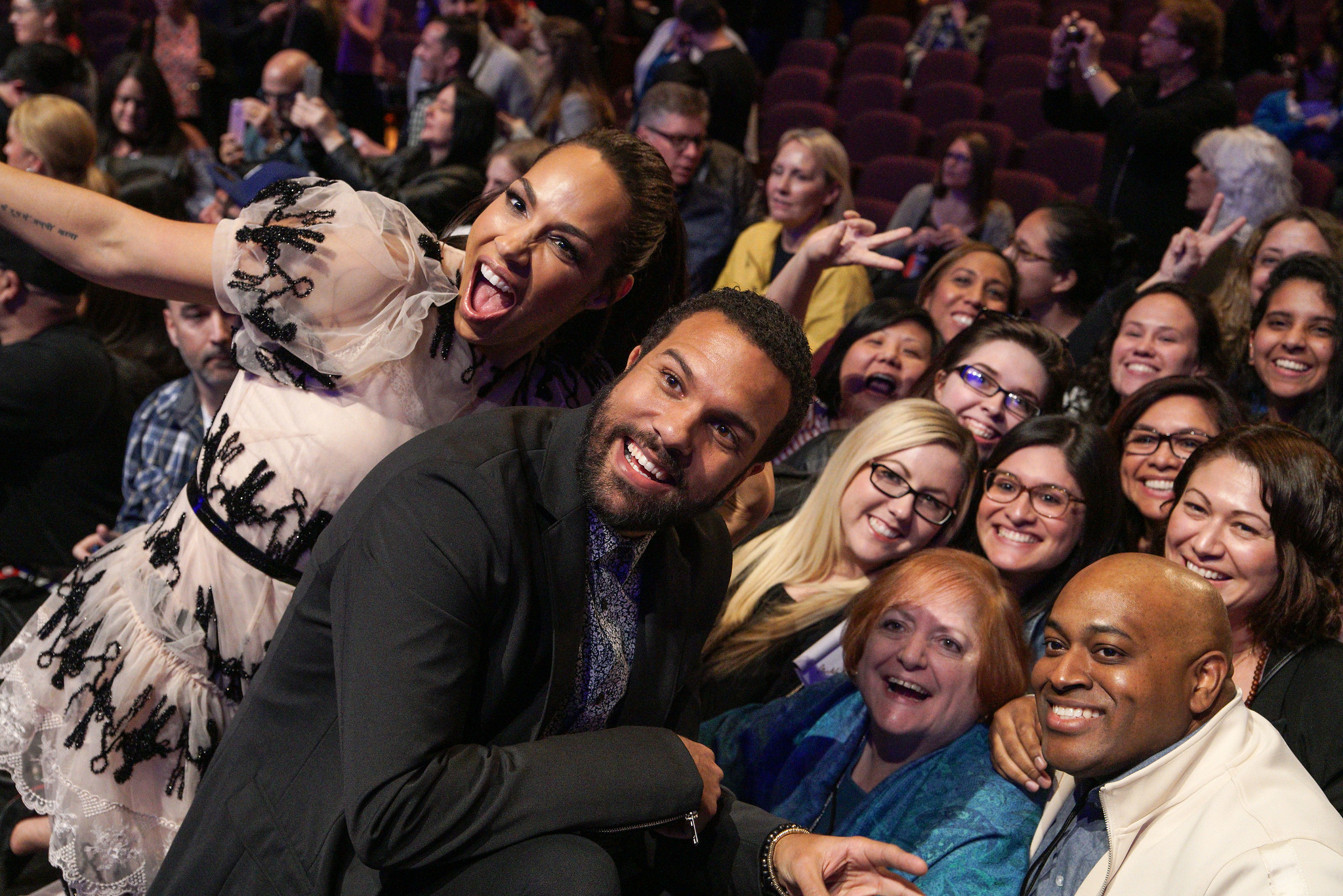 Amanda Brugel and O-T Fagbenle attend PaleyFest LA 2018 honoring The Handmaid's Tale, presented by The Paley Center for Media, at the DOLBY THEATRE on March 18, 2018 in Hollywood, California. Photo Credit:Emily Kneeter for the Paley Center