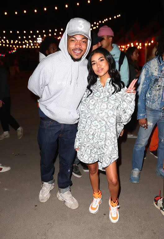 Birthday Vibes! Chance The Rapper and Jhene Aiko at the Levi's® Brand Presents NEON CARNIVAL with Tequila Don Julio on April 14, 2018 in Thermal, California. Photo Credit:Joe Scarnici |WireImage.