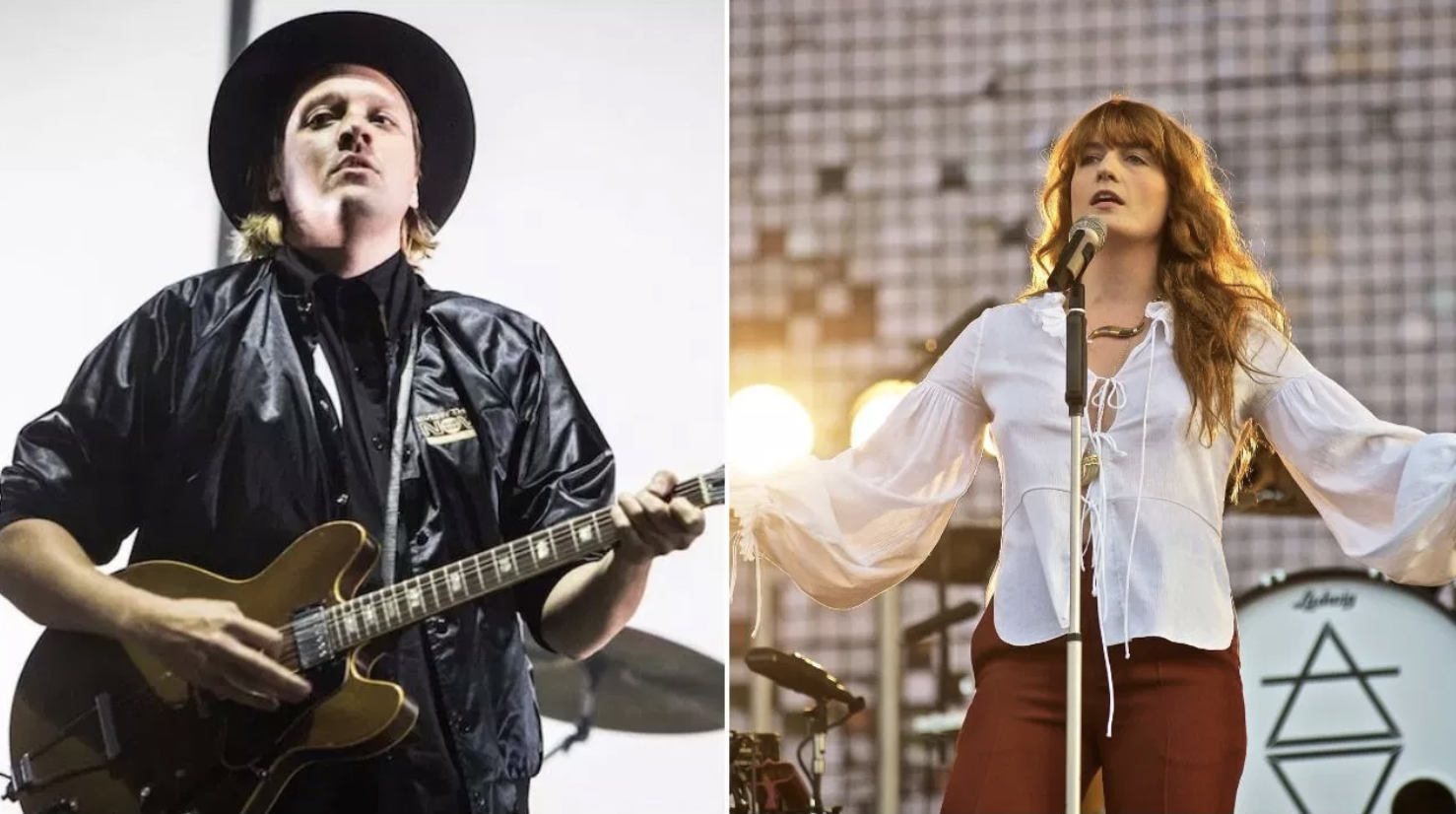 Arcade Fire and Florence Welch.Photo Credit: Philip Cosores and Robert Altman