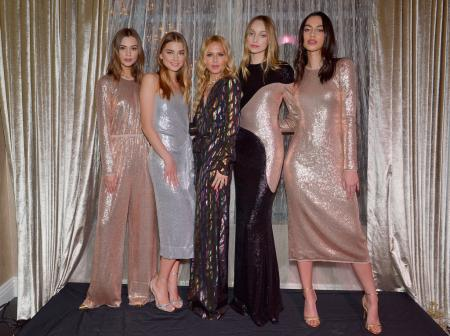 Rachel Zoe (C) and models attend the Rachel Zoe Resort Holiday Presentation at Rachel Zoe Boutique on November 28, 2018 in Pacific Palisades, California. (Photo by Donato Sardella/Getty Images for Rachel Zoe)