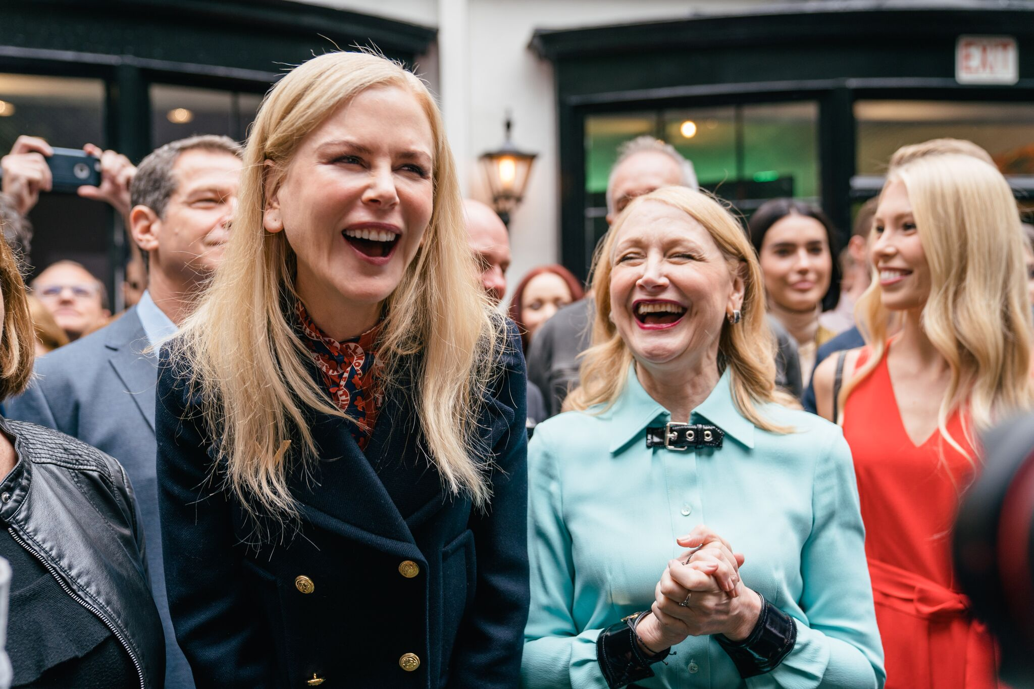 Nicole Kidman and Patricia Clarkson were all smiles!  Photo Credit:  Samantha Klose