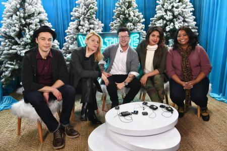 (L-R) Jim Parsons, Claire Danes, Silas Howard, Priyanka Chopra and Octavia Spencer attend The Vulture Spot, Park City, Utah during the 2018 Sundance Film Festival on January 21, 2018 in Park City, Utah. (Photo by Dia Dipasupil/Getty Images for Vulture)
