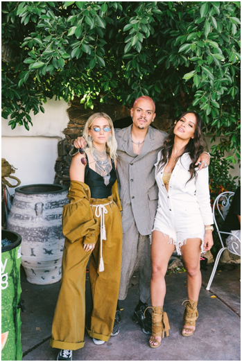 Ashlee Simpson ,  Evan Ross  and  Rocsi Diaz  attend the  Lyt x LA Weekly Festival Hotel  at the Korakai Pensione.  Photo credit: Jennifer Johnson Photography