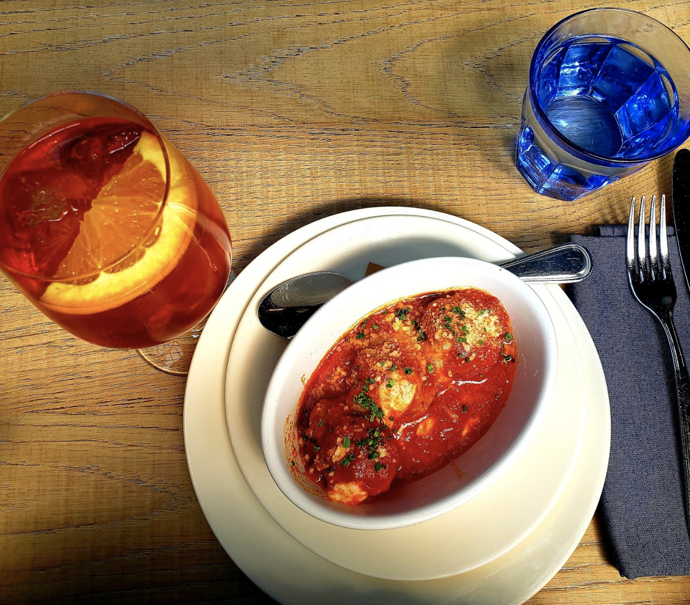 All I Need~ Meatballs and a Lovely Spritz!